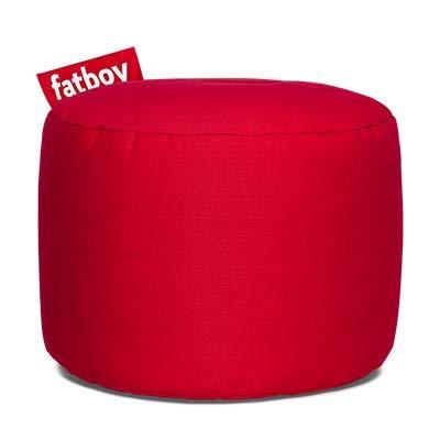 Fatboy Point Sgabello Cotone Rosso | Sgabello/Stool Sedile Rotondo in Diversi Colori Design | 35 x ø 50 cm