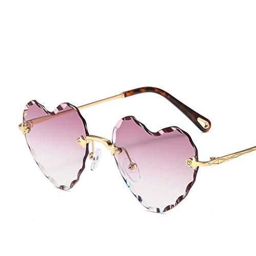 MXH Love No Frame - zonnebril met dikke rand en omgedraaid golfpatroon