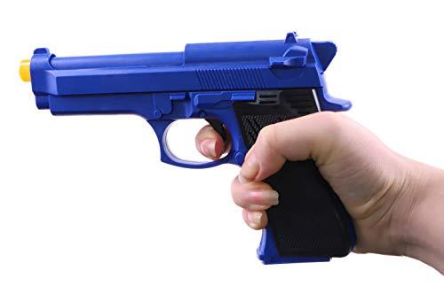Pistola Giocattolo Blu da 28 cm con Luce + Suono - Police Roleplay - Fancy Dress
