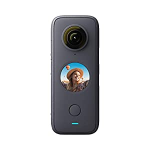 Insta360 ONE X2 Waterproof 360 Degree Action Camera, 5.7K, Touch Screen, AI Editing, Live Streaming, Webcam, Voice Control