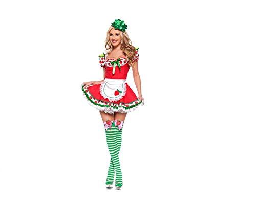 Disfraz sensual de mujer para adultos de Strawberry Shortcake Blanco Y Rojo 36