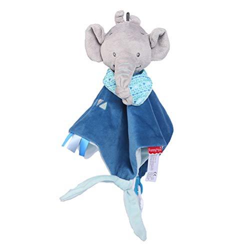 YeahiBaby Baby Schmusetücher Schnuffeltuch mit Beißring beruhigende Spielzeug für Kleinkinder Baby Mädchen Jungen (Elefant)