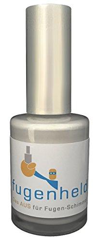 Anti-Schimmel Fugenfarbe/Fugenstift, extra gut abdeckende Farbe, schimmelresistent / 1x15ml / (Grau)