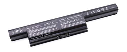 vhbw Li-Ion Akku 4400mAh (10.8V) für Notebook Laptop Asus A93, A93S, A93SM, A93SM-YZ023V, A93SM-YZ026V, A93SM-YZ095V wie A32-K93, A41-K93, A42-K93.