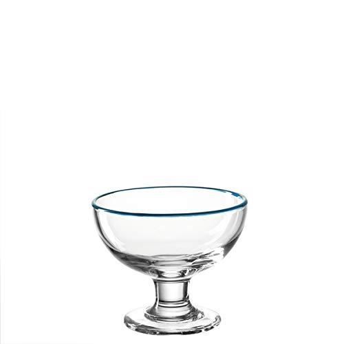 Leonardo - Cucina - Eisschale - Glas - Klar/Blau - (HxBxT) 10 x 12 x 12 cm - D 12cm