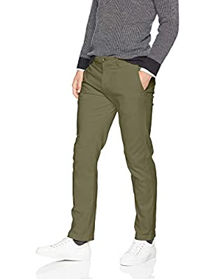 Amazon Essentials Men's Slim-Fit Casual Stretch Khaki, Olive, 36W x 29L