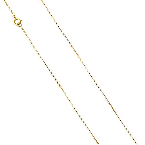 Corrente Cordão Cartier 1mm 70cm + Pingente Cruz 2,2cm Banhado a Ouro 18k
