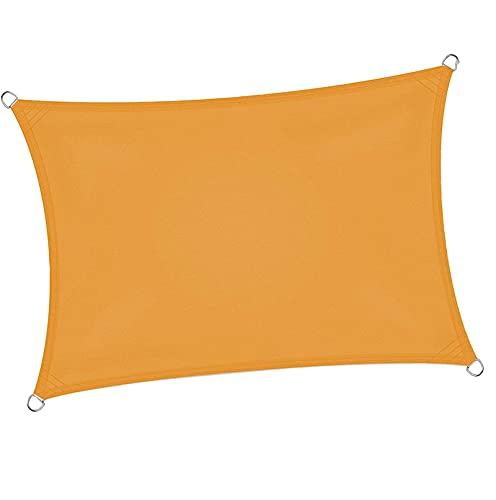 RURGLY Toldo rectangular de 7 pies x 6 pulgadas, toldo de tela impermeable, para patio, jardín, instalaciones al aire libre