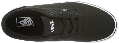 Vans Atwood, Unisex-Kids Low-Top Sneakers,, Black ((Canvas) Black/White), 2 UK (33 EU)