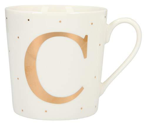 Depesche 5909.028 Tasse mit Henkel, aus Porzellan, 300 ml, mit Aufschrift, C, Mehrfarbig