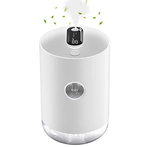 Gifort Humidificador Ultrasónico, Humidificador de Niebla de 1000 ml Difusor de USB, Humidificador de Interior Ultra Silencioso Funcionamiento Silencioso para Hogar, Oficina 8h de Trabajo Blanco
