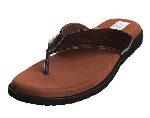 Dr Ortho Footwear Men's Brown Flip-Flops - 8 UK