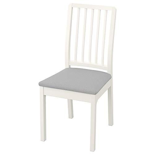 EKEDALEN Stuhl 45x51x95cm weiß/orrsta lichtgrau