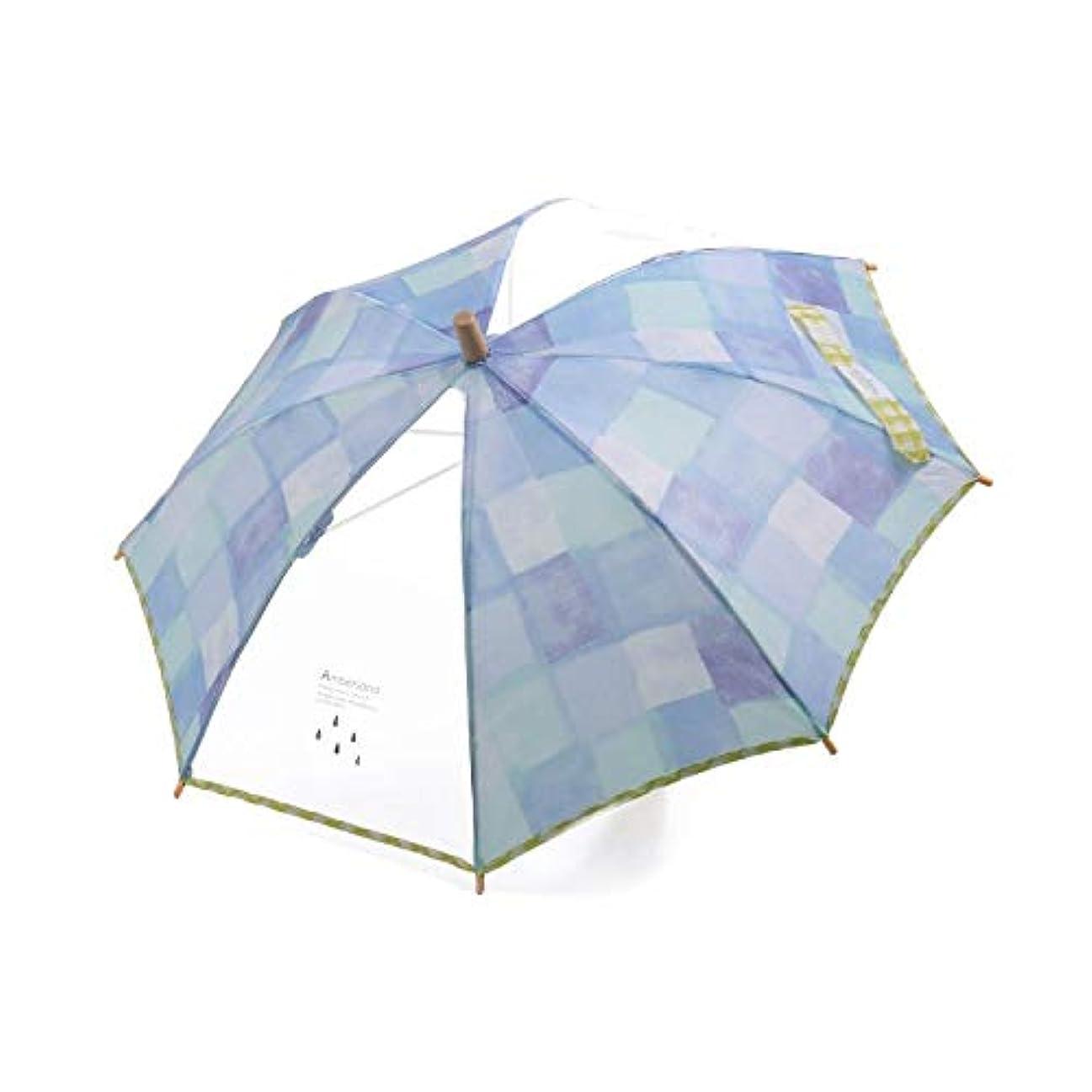 オフパノラマ光沢のあるampersand(アンパサンド) 水彩チェック傘