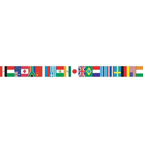 """Edupress EP595 International Flags Spotlight Border, 3"""" x 39' Size, 3"""" Width, 3"""" Length, 3"""" Height"""