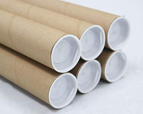 1.5 inch x 30 inch, Mailing Tubes with Caps (6 Pack) | MagicWater Supply