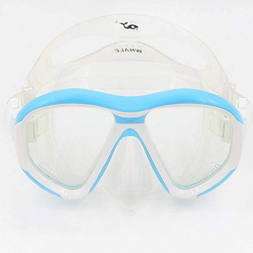 CMZWK Gafas De Natacion Máscara De Buceo + Lentes De Vidrio Templado Gafas De Natación Profesionales para Equipo De Snorkel Subacuático Accesorios