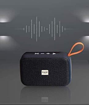 Altavoz Conexión Bluetooth 5.0 y Jack 3.5mm Función Radio FM, Reproductor USB, Ranura para Tarjetas Micro SD y Manos Libres (Negro)