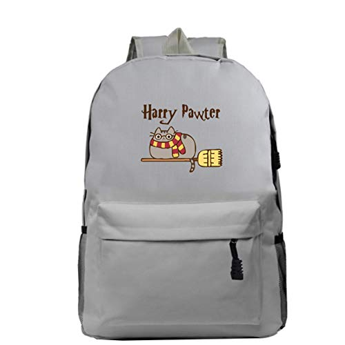 GD-Tshirts Cartoon Cat Backpack-Boys Girls Back to School Bookbag-Lightweight Rucksack for Outdoor,Travel