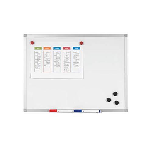 Q-Connect Pizarra Blanca Lacada Magnética Marco De Aluminio 120 x 90 Cm