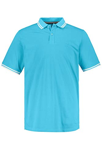 JP 1880 Herren große Größen Übergrößen Menswear L-8XL Poloshirt Cyan 4XL 748561 79-4XL