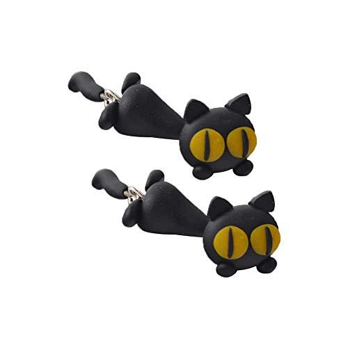 CAOLATOR.Pendientes de Gato del Aretes de Animal Aretes de Dibujos Animados Retro para Pendientes Hechos a Mano para Las Niñas de los Hombres el Accesorios de Joyería Boda de el Aniversario Aretes