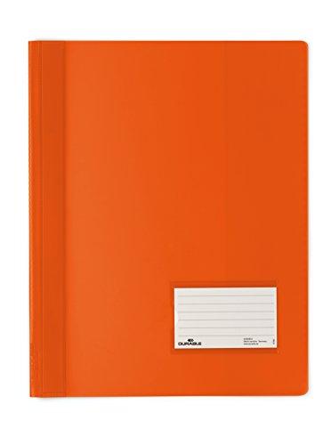 DURABLE Hunke & Jochheim Schnellhefter DURALUX®, transluzente Folie, für A4 Überbreit, 280x332mm, orange