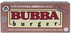 BUBBA BURGER BEEF CHUCK PATTIES ORIGINAL 32 OZ BOX PACK OF 2