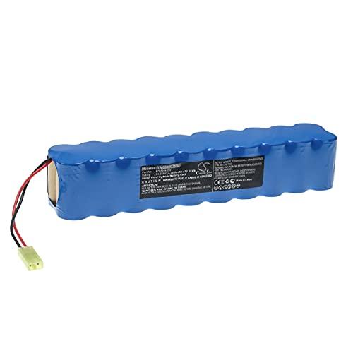 vhbw Batería recargable compatible con Rowenta RH854801, RH854801/9A0, RH854801/9A1, RH854801/9A4 aspiradora, robot limpieza (3000 mAh, 24 V, NiMH)