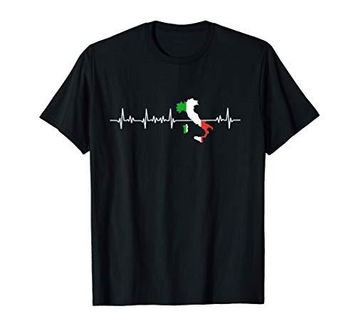Herzschlag Italien Italienische Flagge T-Shirt