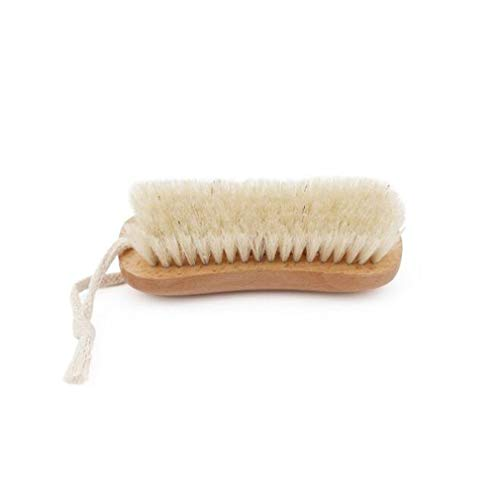 UINKE Wooden Cleaning Brush Scrub Brush Clothes Brush with Rope Hook