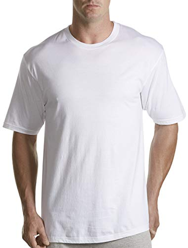Harbor Bay by DXL Big and Tall Crewneck T-Shirts, White 2XLTall, Pack of 3