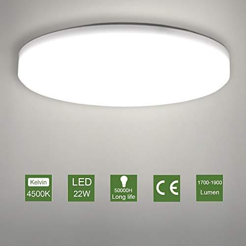 LED Lámpara de Techo,22W Moderna Plafón Led de Techo