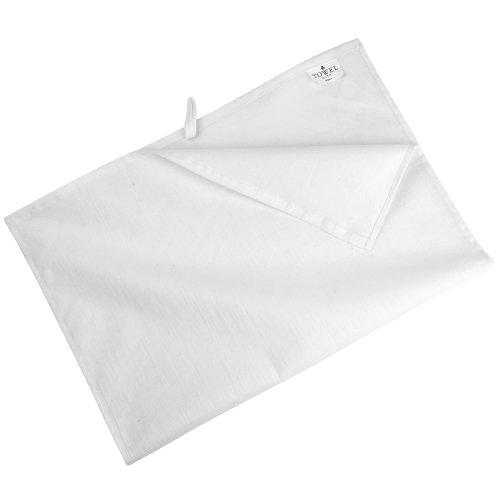 Towel City - Torchon 100% Coton (50 x 70cm) (Taille Unique) (Blanc)