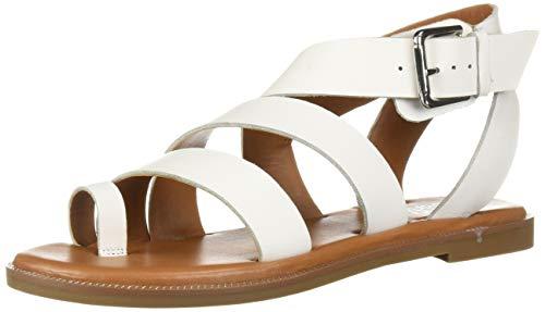 Franco Sarto Women's Kehlani Flat Sandal, White, 9 M US