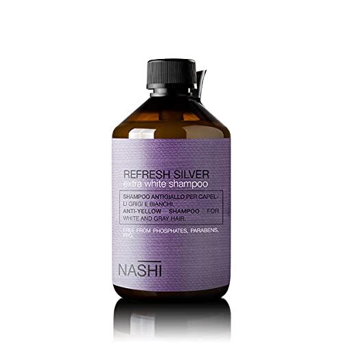 Nashi Argan Blondy Joy Shampoo Antigiallo per Capelli Biondi Decolorati (1000ml)
