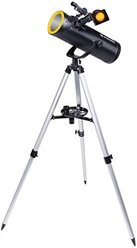 BRESSER Solarix AZ 114 500 Kit de Iniciación de Telescopio con Diseño de Carbono