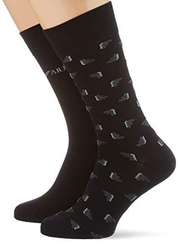 Emporio Armani Underwear Mens Short Socks Set 2Pack Casual, Black, TU