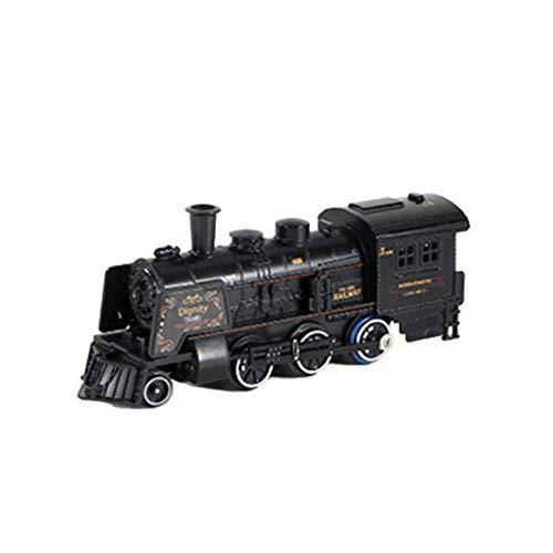 YOULY Juego de Juguete de Tren EléCtrico de Tren de de SimulacióN, Tren de AleacióN, Pista de PulverizacióN, Juguete de Bricolaje con Sonido y Luces Juego de Tren para NiiOs