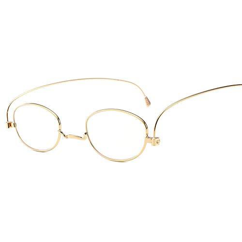 ZZAI Gafas de Lectura Papel Ultrafino Portátil Portátil HD/Ultra-Luz Presbellina Anti-Blue Masculina y Femenina Gafas de Lectura de Moda - 6 Diopter Red- 3.5 (Color : Gold, Size : 2.5)