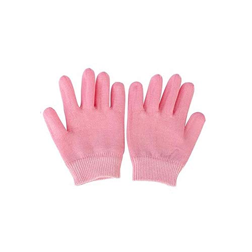 1 paire de gants de spa hydratants en coton doux avec gel thermoplastique réparateur et cicatrisation de l'eczéma et de la peau sèche craquelée