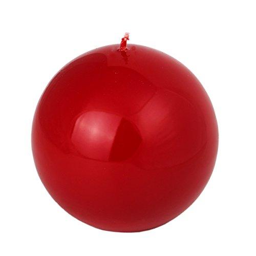 rote Kugelkerzen Lack 120 mm Durchmesser große Kugel Kerze