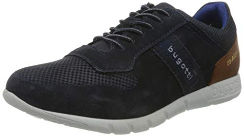 bugatti Herren 323507041400 Schnürer Sneaker , Dark Blue , 42 EU