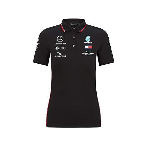 Mercedes AMG Petronas Damen Poloshirt 2020 – Schwarz, Größe S