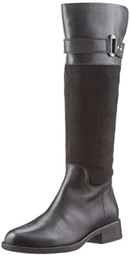 Geox Damen D RESIA I Knee High Boot, Schwarz, 41 EU