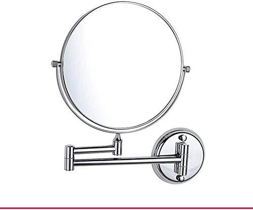 Make-up spiegel voor het opbergen van make-up, uittrekbaar, badkamer, wandspiegel, dubbelzijdig, opvouwbaar, hoogte 20 cm, naam: A-20 cm, goudkleurig