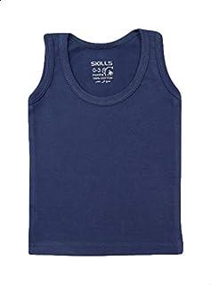 Skills Plain Sleeveless Round Neck T-shirt for Boys