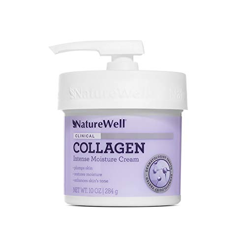 NatureWell Collagen Intense Moisturizing Cream for Face & Body, 10 oz.   Clinical   Increases Suppleness & Improves Skin Plumpness