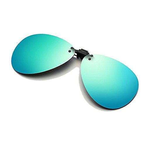 Cyxus aviador flash polarizado reflejado lentes clásico gafas de sol Gafas con clip [Anti reflejante] Protección uv, para conducción/pesca, Unisexo(Hombres y mujeres) Verde