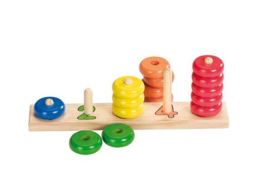 Goki 58941 - Sortierspiel Lerne Zählen mit Ringen